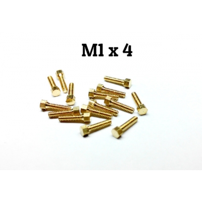Copper made M1*4 hex bolt