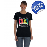 DANCE TO FITNESS T-SHIRT WOMEN'S FIT