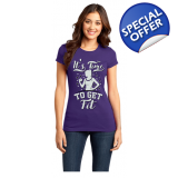 IT'S TIME TO GET FIT T-SHIRT - LADIES