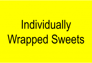 Individually wrapped sweets