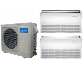 Midea 21 SEER 2x18000btu Universal Mount Mini Split Heat ...