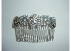 Beatrice silver chrome bridal hair comb