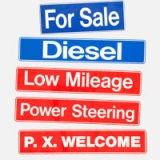 PVC Sales Display Slogan Signs for Car..