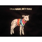 'I'M A PERSON, NOT A THING' Lamb T shirt Details