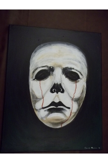 Michael Myers Halloween Original painting acrylic on canvas horror haunted art