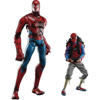 Marvel Comics Peter Parker & Spider-Man 1:6 Scale Figure Three A