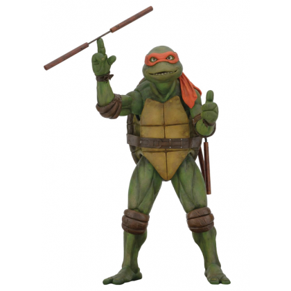 TMNT 1990 Turtles Movie Michelangelo 1:4 Scale Action Figure By NECA