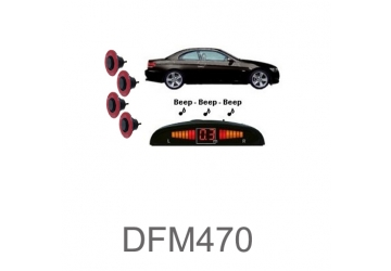 Dolphin Flush Parking Sensor Kit - Audio & Dash Display - Wireless