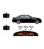 2 Adhesive Sensors, Silver or Gloss Black, Audio & Dash Display