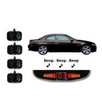 4 Adhesive Sensors, Silver or Gloss Black, Audio & Roof Display