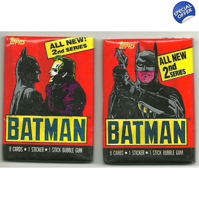 1989 Topps Batman Trading Cards 2nd Series
