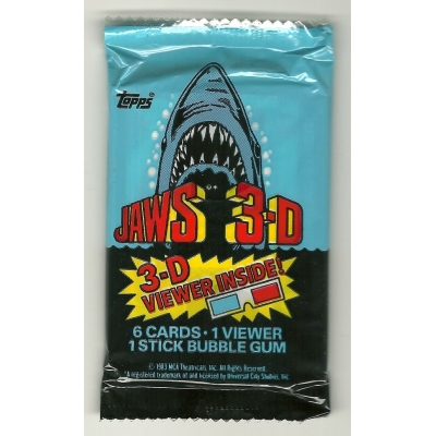 1983 Topps Jaws 3-D Tra..