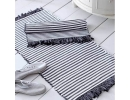 Grey Stripey Bath Mat