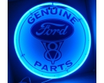 Ford V8 Genuine Parts Neon Sign 24 inches round