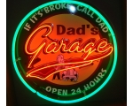 Full Can 24 inch Dad's Garage Neon - 2 Color