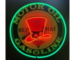 Full Can 24 inch Red Hat Gasoline Neon - 2 Color