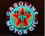 Texaco Motor Oil Neon Sign measures 24 x 24