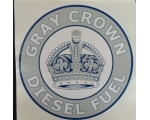 Gray Crown Diesel Fuel Graphic Decal