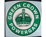 Green Crown Powergas Graphic Decal. approx. 11