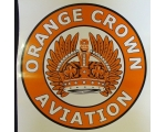 Orange Crown Aviation w/ feathers Graphic Decal