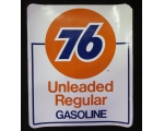 76 Unleaded Gasoline Decal
