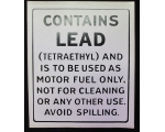 Contains Lead Gas Pump Decal