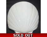 Milk Glass Clam Shell With 3