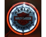 Very Nice Harley Davidson Double Neon Clock