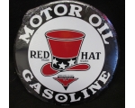 NEW Metal Red Hat Gasoline 12