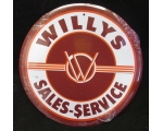 NEW Willy's Sales Service Metal 12