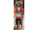Life Size Hand Carved Solid Wood Indian Chief Wi..