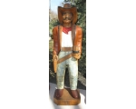Life Size Hand Carved Solid Wood Cowboy