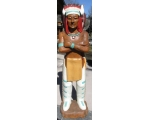 Life Size Hand Carved Solid Wood Indian Scout