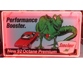 Sinclair New 92 Octane Premium Performance Booster Advertising Sign Neon