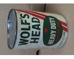 Original Wolf's Head Motor Oil Can 1qt, Composit..