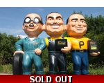 Pep Boys Wall Statue Sign *Many, Moe, Jack Fiber..