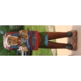Life size 6' Indian Statue Hand Carved..