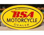 BSA Motorcycle Dealer Metal Hand Painted Custom ..