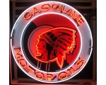 40 inch Red Indian Gasoline Motor Oils Neon Sign