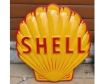 Shell Fiberglass Embossed Advertising Sign Tiger..