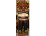 Life Size Hand Carved Solid Wood Indian Chief