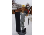 Life Size 3D Gas Service Station Attendant Statue