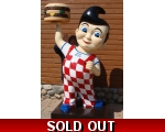 8ft. Tall 3D Life Size Big Boy Hamburger Icon St..