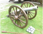 LIFE SIZE Hand Painted Fiberglass Replica Cannon