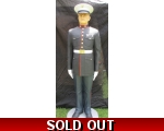 Life size 6.5' Marine Standing Soldier Hand Pain..