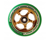 110mm Chrome Gold Core - Green PU X-Gen Pro4 Wheel