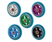 Pro 100mm Alloy Core Scooter Wheel - Blue PU