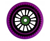 Black Nylon Core, Purple PU 100mm F/L Wheels