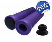 Team Dogz Flangeless Slip On Grips Purple