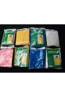 PONCHOS 200 PER CASE  GOOD QUALITY.